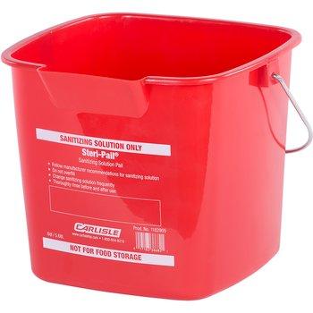 1182905 - Square Steri Pail® 6 qt - Red
