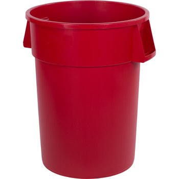 34104405 - Bronco™ Round Waste Bin Trash Container 44 Gallon - Red