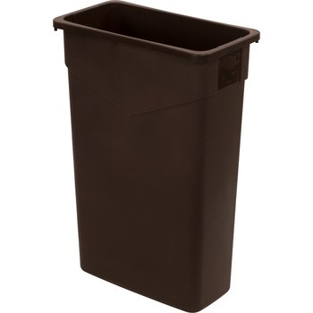 34202369 - TrimLine™ Rectangle Waste Container Trash Can 23 Gallon - Dark Brown