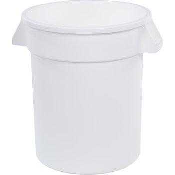 34102002 - Bronco™ Round Waste Bin Food Container 20 Gallon - White