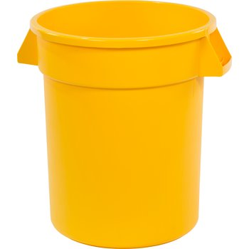 34102004 - Bronco™ Round Waste Bin Food Container 20 Gallon - Yellow