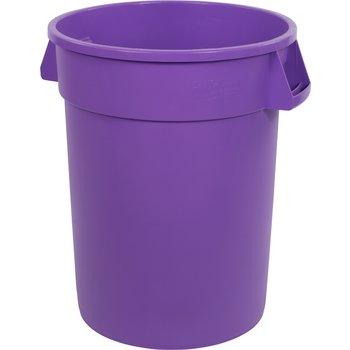 34103289 - Bronco™ Round Waste Bin Trash Container 32 Gallon - Purple