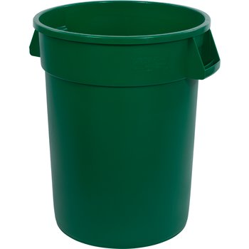 34103209 - Bronco™ Round Waste Bin Trash Container 32 Gallon - Green