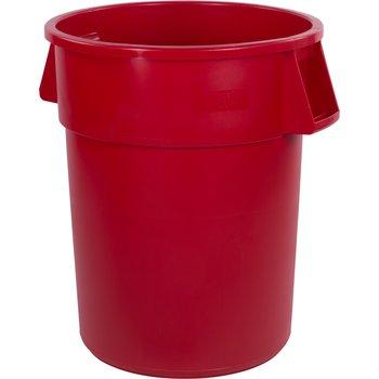 34105505 - Bronco™ Round Waste Bin Trash Container 55 Gallon - Red