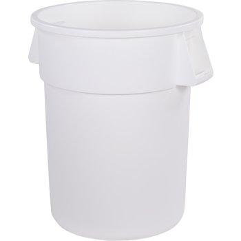 34105502 - Bronco™ Round Waste Bin Trash Container 55 Gallon - White