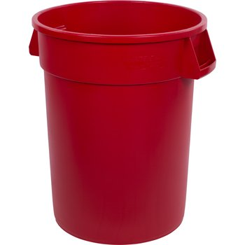 34103205 - Bronco™ Round Waste Bin Trash Container 32 Gallon - Red