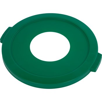 "341021REC09 - Bronco™ Round Recycle Lid with 8"" Receptacle 20 Gallon - Recycle - Green"