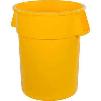 34105504 - Bronco™ Round Waste Bin Trash Container 55 Gallon - Yellow