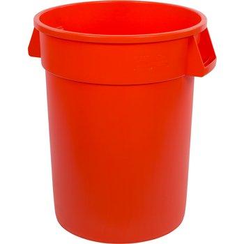 34103224 - Bronco™ Round Waste Bin Trash Container 32 Gallon - Orange