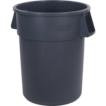 34105523 - Bronco™ Round Waste Bin Trash Container 55 Gallon - Gray