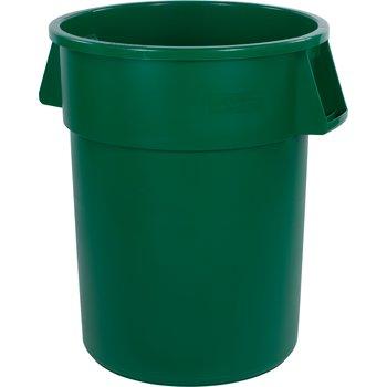 34105509 - Bronco™ Round Waste Bin Trash Container 55 Gallon - Green