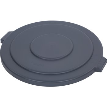 34105623 - Bronco™ Round Waste Bin Trash Container Lid 55 Gallon - Gray