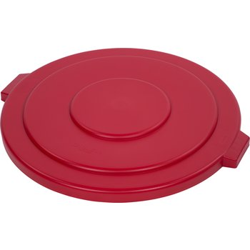 34105605 - Bronco™ Round Waste Bin Trash Container Lid 55 Gallon - Red