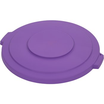 34103389 - Bronco™ Round Waste Bin Trash Container Lid 32 Gallon - Purple