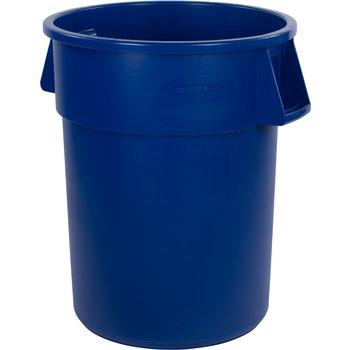 34105514 - Bronco™ Round Waste Bin Trash Container 55 Gallon - Blue