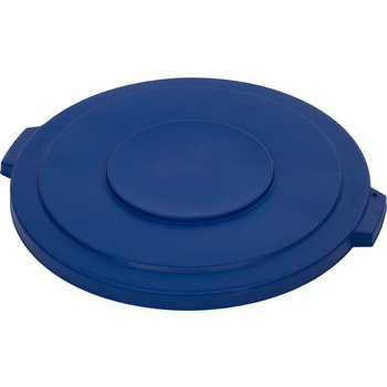 34103314 - Bronco™ Round Waste Bin Trash Container Lid 32 Gallon - Blue