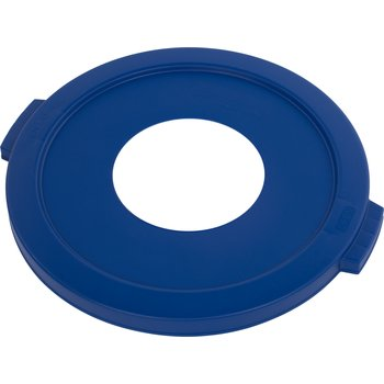 """341021REC14 - Bronco™ Round Recycle Lid with 8"""" Receptacle 20 Gallon - Recycle - Blue"""