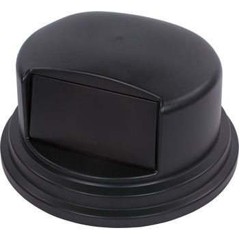 34105703 - Bronco™ Round Waste Container Dome Lid With Hinged Door 44 and 55 Gallon - Black