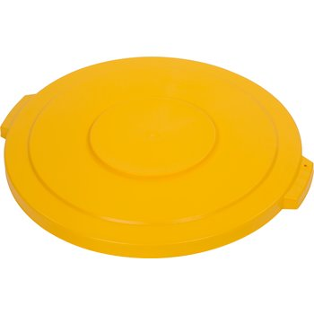 34104504 - Bronco™ Round Waste Bin Trash Container Lid 44 Gallon - Yellow