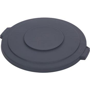 34103323 - Bronco™ Round Waste Bin Trash Container Lid 32 Gallon - Gray