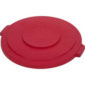 34103305 - Bronco™ Round Waste Bin Trash Container Lid 32 Gallon - Red