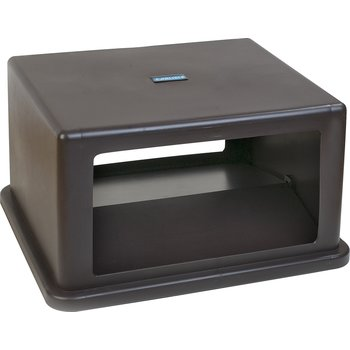 34405869 - Open-Side Square Waste Container Hood Lid with Hinged Doors 56 Gallon - Brown