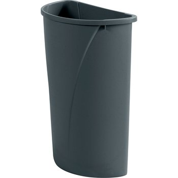 34302123 - Centurian™ Half Round Waste Container Trash Can 21 Gallon - Gray