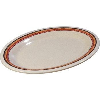 "43083908 - Mosaic™ Durus® Melamine Oval Platter Tray 12"" x 9.25"" - Sierra Sand on Sand"