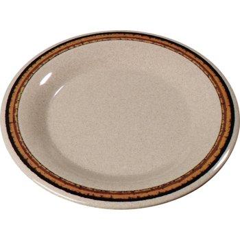"""43013908 - Durus® Melamine Wide Rim Dinner Plate 9"""" - Sierra Sand on Sand"""