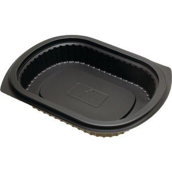 DXMW4024PBLK - Microwaveable Small Entrée Platter 24oz (250cs/cs) - Black
