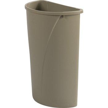 34302106 - Centurian™ Half Round Waste Container Trash Can 21 Gallon - Beige