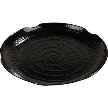 "4451403 - Terra™ Scalloped Textured Platter 14"" - Black"