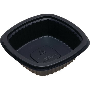 DXMW512PBLK - Microwaveable Square Side Dish 12oz. - Black
