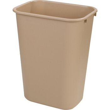 34294106 - Rectangle Office Wastebasket Trash Can 41 Quart - Beige
