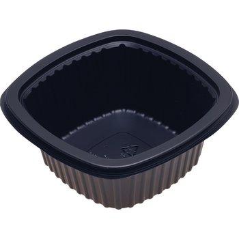 DXMW516PBLK - Microwaveable Square Side Dish 16oz. - Black