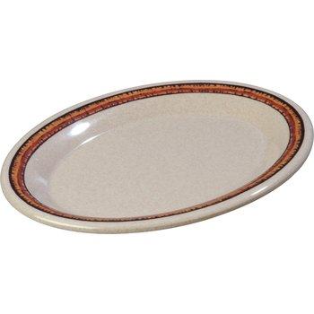"43087908 - Durus® Melamine Oval Platter Tray 9.5"" x 7.25"" - Sierra Sand on Sand"