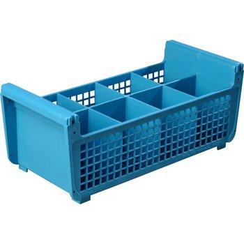 "C32P114 - Perma-Sil™ Flatware Basket without Handles 17"" x 7.75"" x 6.9"" - Carlisle Blue"