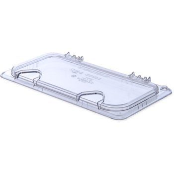 10280Z07 - StorPlus™ EZ Access Hinged Univ Lid with Handle and 2 Notches 1/3 Size - Clear