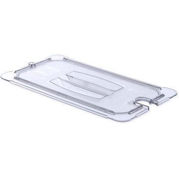 10271U07 - StorPlus™ Univ Lid - Food Pan PC Handled Notched 1/3 Size - Clear