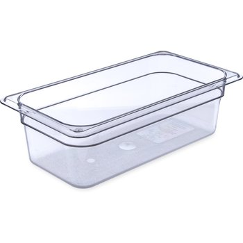 "3066107 - StorPlus™ Food Pan PC 4"" DP 1/3 Size - Clear"