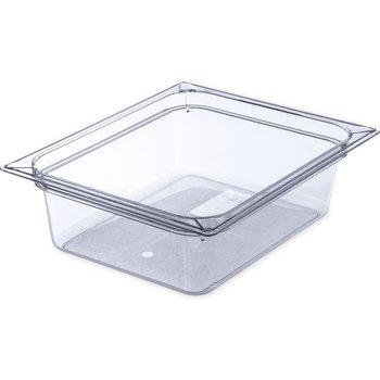 "10221B07 - StorPlus™ Food Pan PC 4"" DP 1/2 Size - Clear"