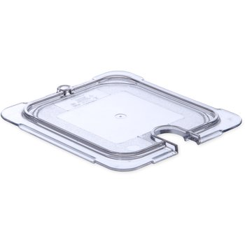 """10317U07 - StorPlus™ Univ Lid - Food Pan PC Flat Notched 6-3/4"""" x 6-3/8"""" - Clear"""
