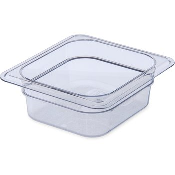"3068307 - StorPlus™ Food Pan PC 2.5"" DP 1/6 Size - Clear"
