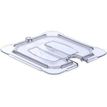 10311U07 - StorPlus™ Univ Lid - Food Pan PC Handled Notched 1/6 Size - Clear
