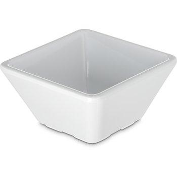 6402402 - Grove Melamine Square Bowl 3 oz - White