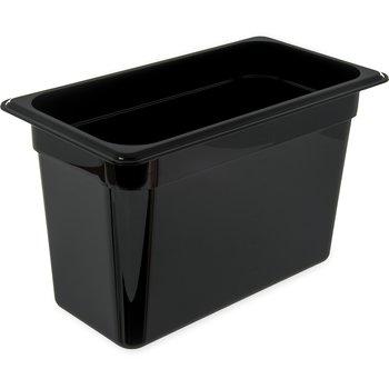 """3066903 - StorPlus™ Food Pan PC 8"""" DP 1/3 Size - Black"""