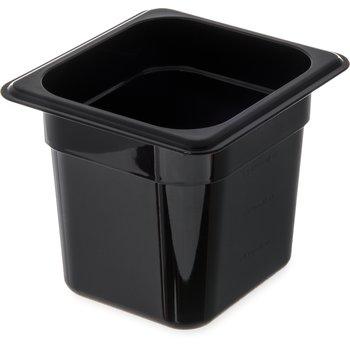 """3068503 - StorPlus™ Food Pan PC 6"""" DP 1/6 Size - Black"""