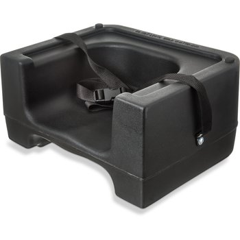 7111-403 - Booster Seat w/ Safety Strap - Black
