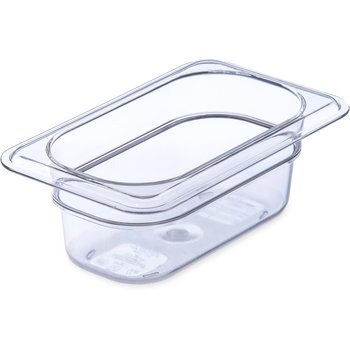 "3068607 - StorPlus™ Food Pan PC 2.5"" DP 1/9 Size - Clear"