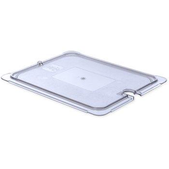 10237U07 - StorPlus™ Univ Lid - Food Pan PC Flat Notched Half Size - Clear